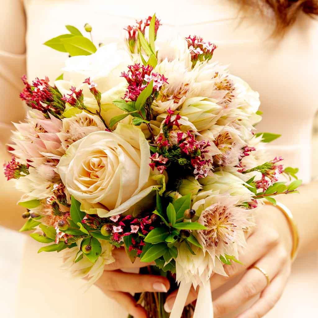 Le bouquet de la mariée (Source : Les Photos de Bela)