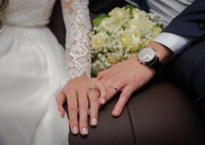 Les alliances des mariés