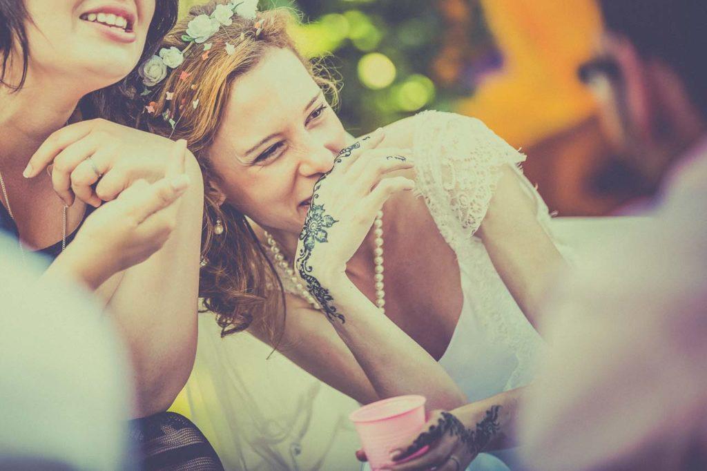Les rires de la mariée