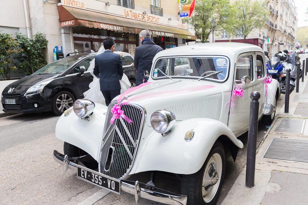 La voiture des mariés - Paris 14